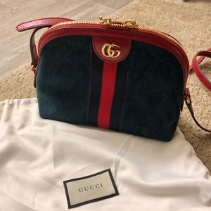 Gucci Suede leather crossbody bag/NEW!!!